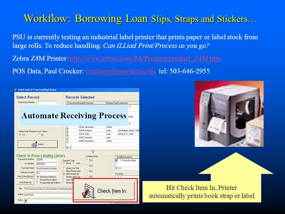 Workflow: Borrowing Loan Slips, Straps & Stickers pt.