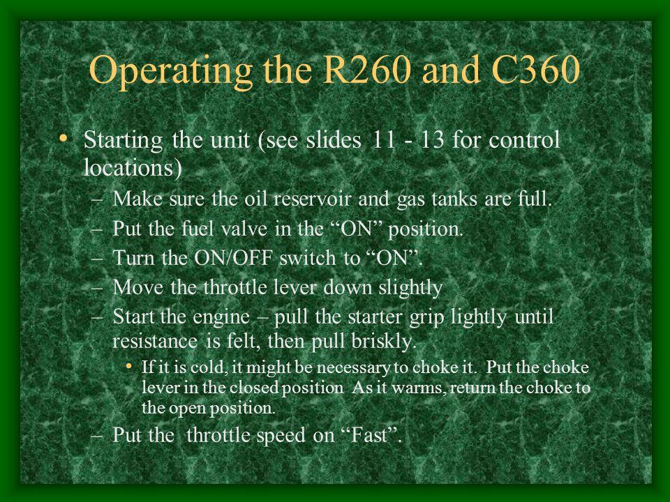 Oil filler cap/dipstick.Check oil level here, before starting motor.