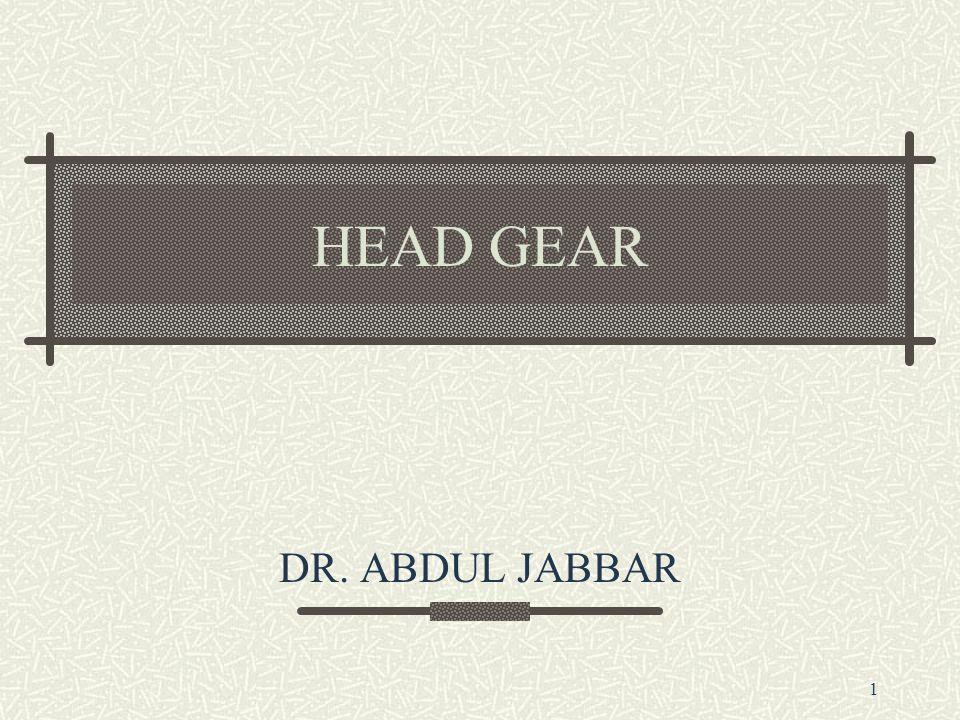 1 HEAD GEAR DR. ABDUL JABBAR