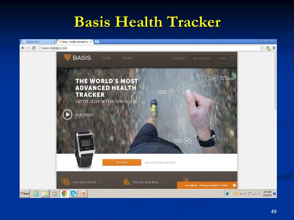 49 Basis Health Tracker