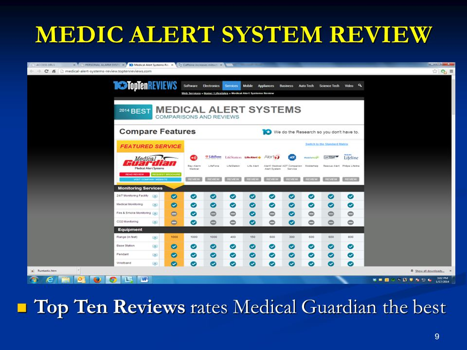 9 MEDIC ALERT SYSTEM REVIEW Top Ten Reviews rates Medical Guardian the best Top Ten Reviews rates Medical Guardian the best