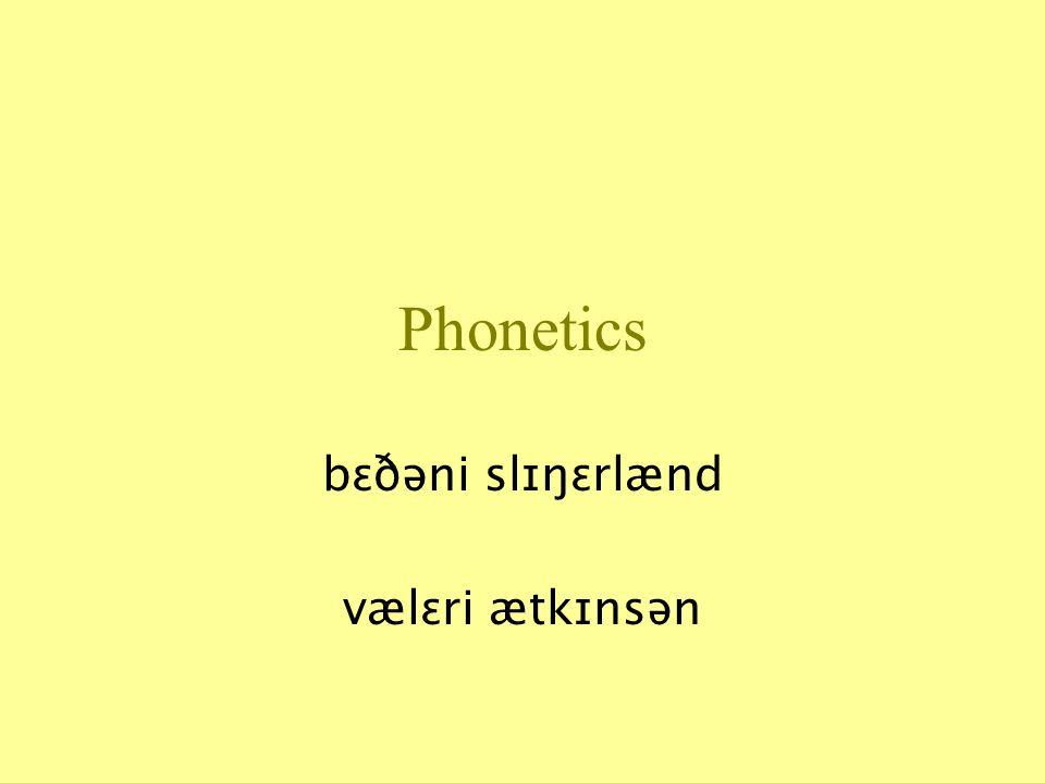 Phonetics bɛðəni slɪŋɛrlænd vælɛri ætkɪnsən