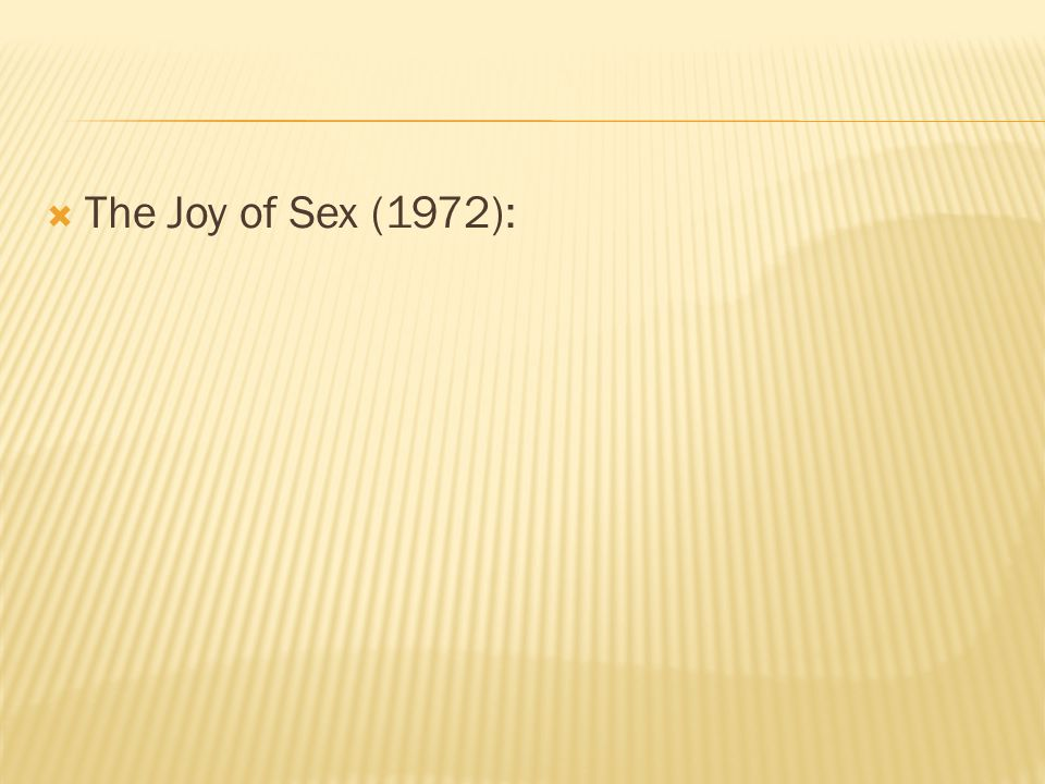  The Joy of Sex (1972):