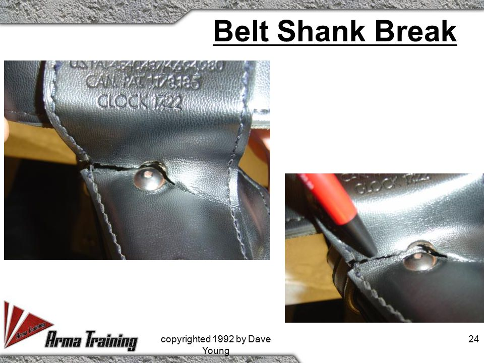 Belt Shank Break copyrighted 1992 by Dave Young 24