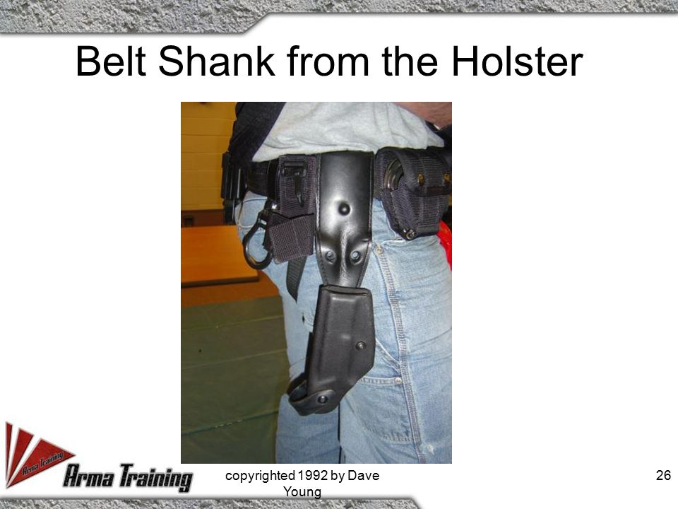 Belt Shank from the Holster copyrighted 1992 by Dave Young 26