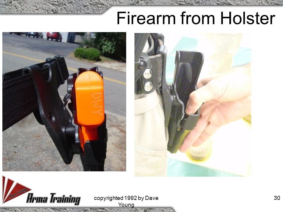 Firearm from Holster copyrighted 1992 by Dave Young 30