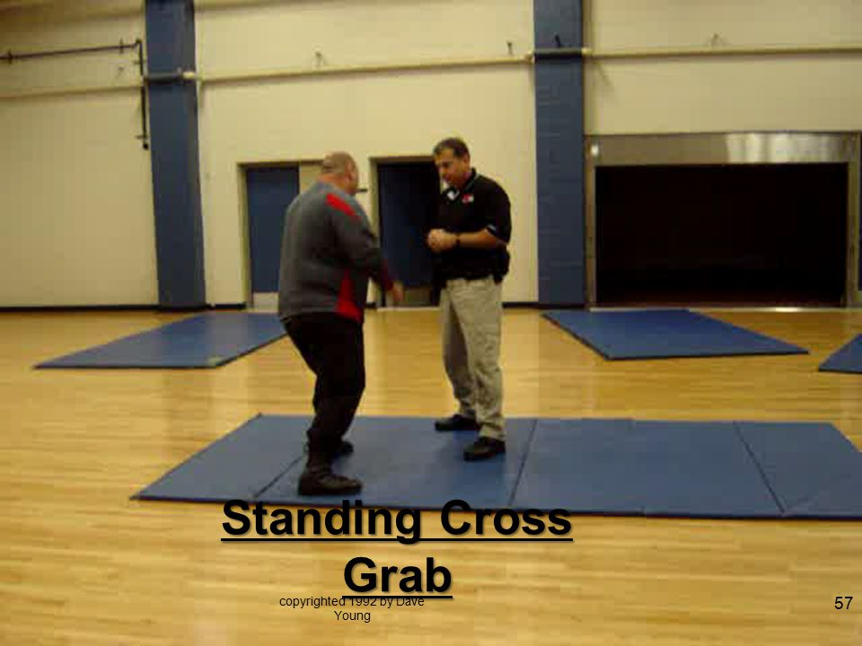 Standing Cross Grab copyrighted 1992 by Dave Young 57