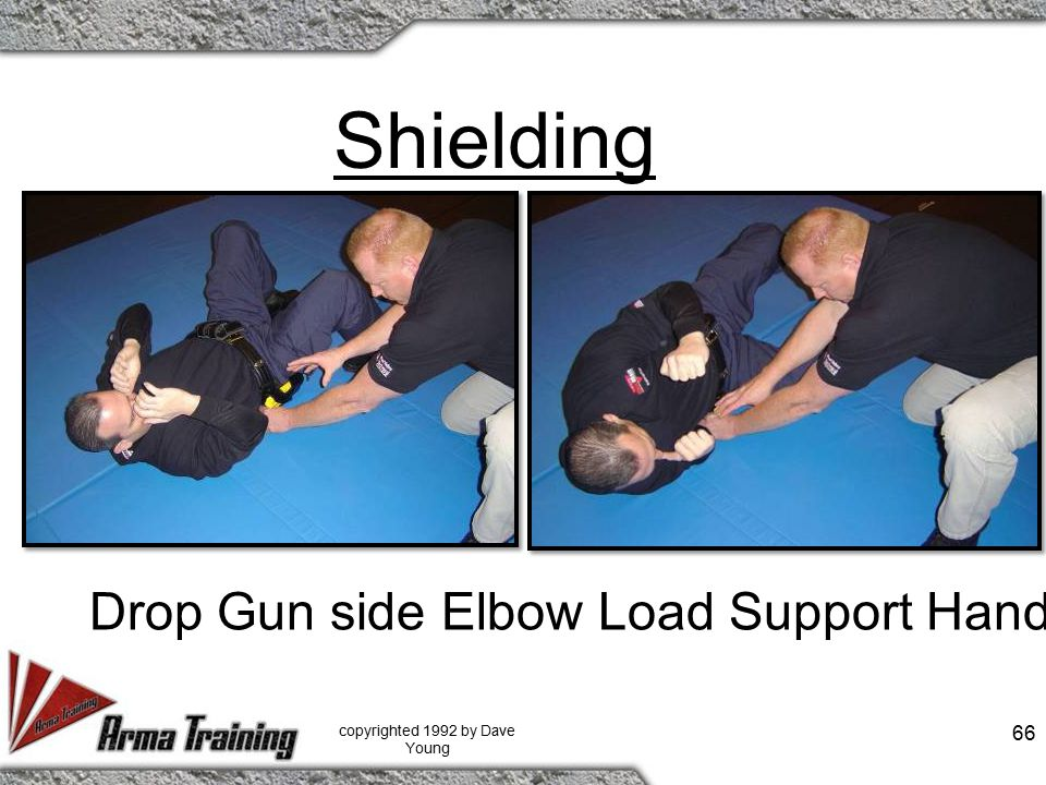 Shielding copyrighted 1992 by Dave Young 66 Drop Gun side Elbow Load Support Hand