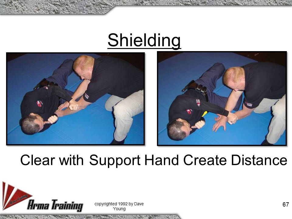 Shielding copyrighted 1992 by Dave Young 67 Clear with Support Hand Create Distance