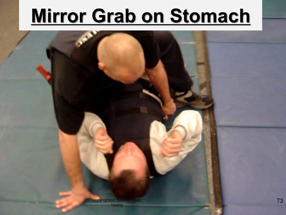 Mirror Grab on Stomach copyrighted 1992 by Dave Young 73