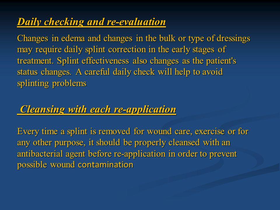 Types of splints