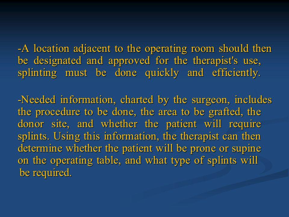 -As soon as the reversal of anesthesia begins, splint application should begin.