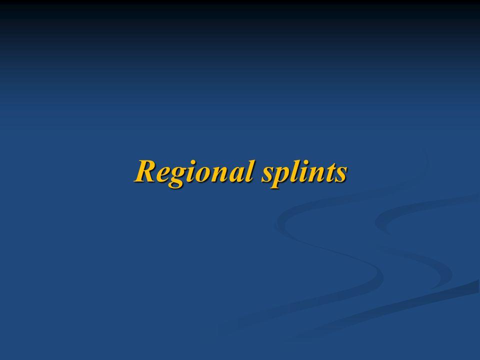 Regional splints