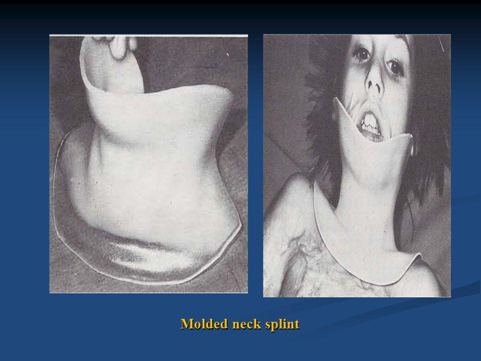 Molded neck splint
