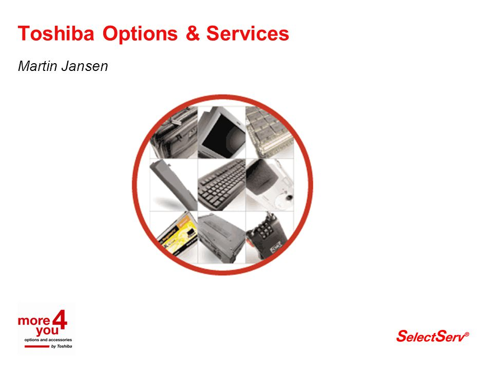 Toshiba Options & Services Martin Jansen