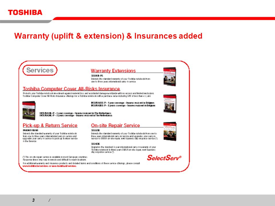 3/3/ Warranty (uplift & extension) & Insurances added