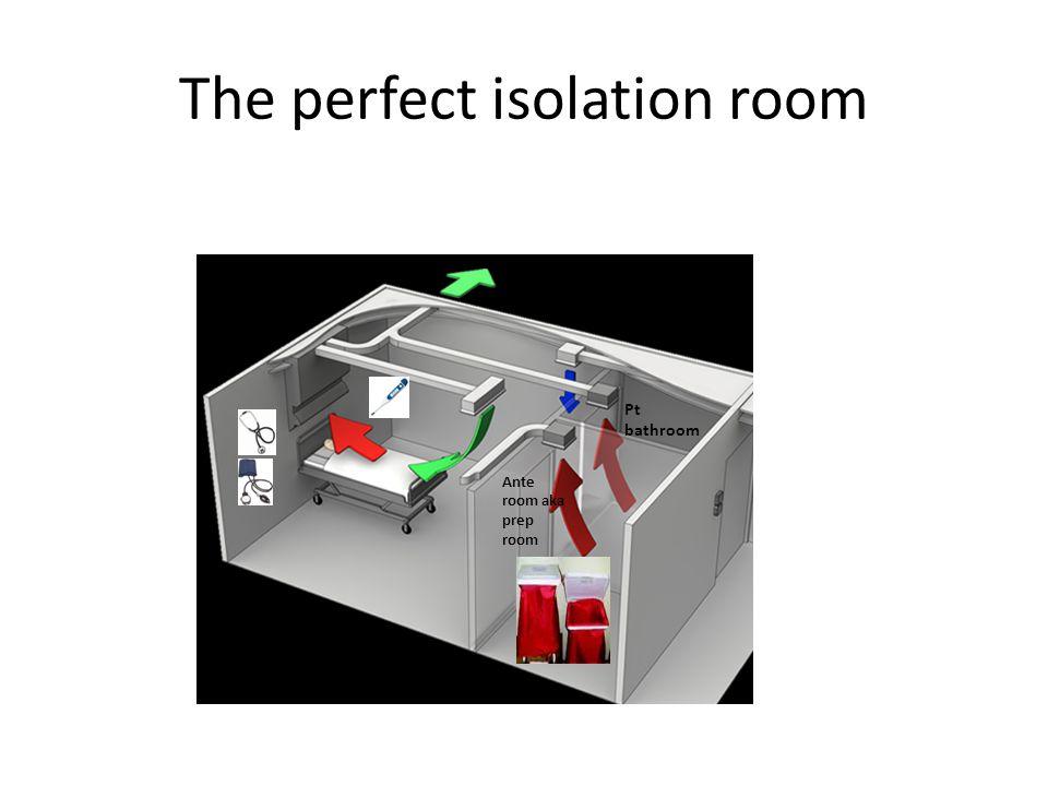 The perfect isolation room Ante room aka prep room Pt bathroom