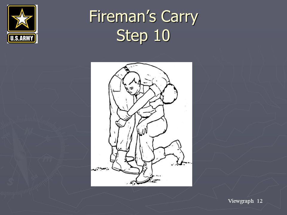 Viewgraph 12 Fireman's Carry Step 10