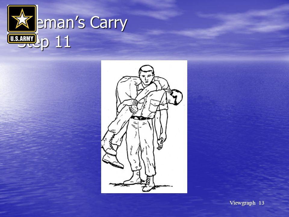 Viewgraph 13 Fireman's Carry Step 11