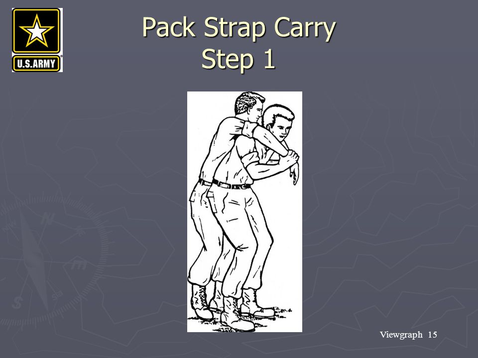 Viewgraph 15 Pack Strap Carry Step 1