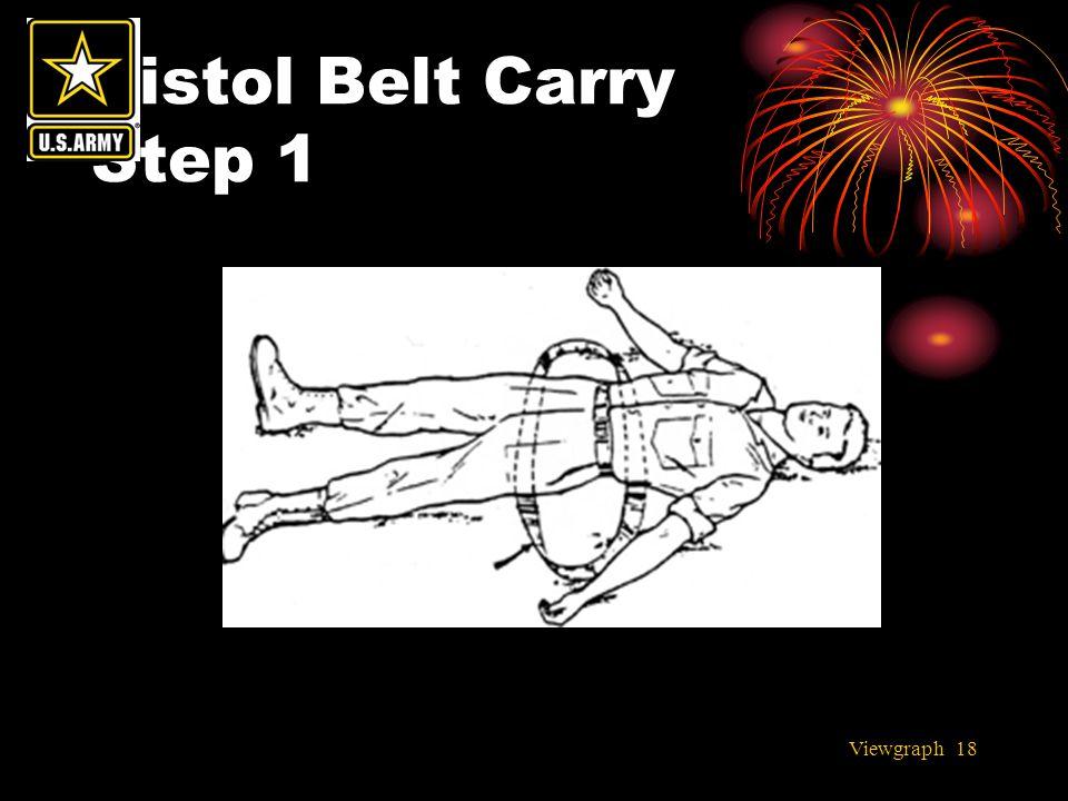 Viewgraph 18 Pistol Belt Carry Step 1