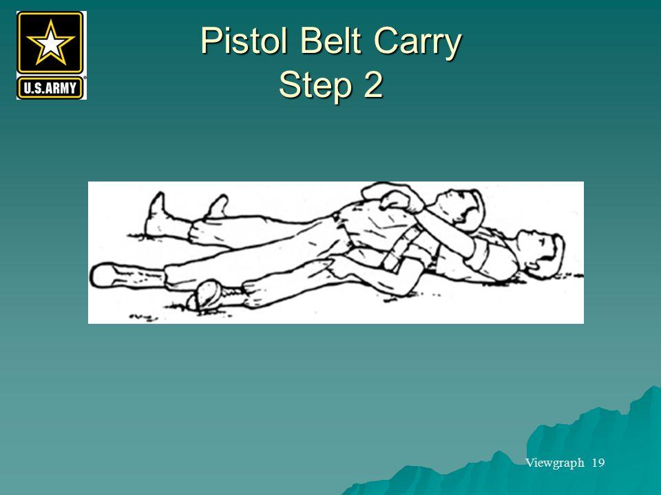 Viewgraph 19 Pistol Belt Carry Step 2