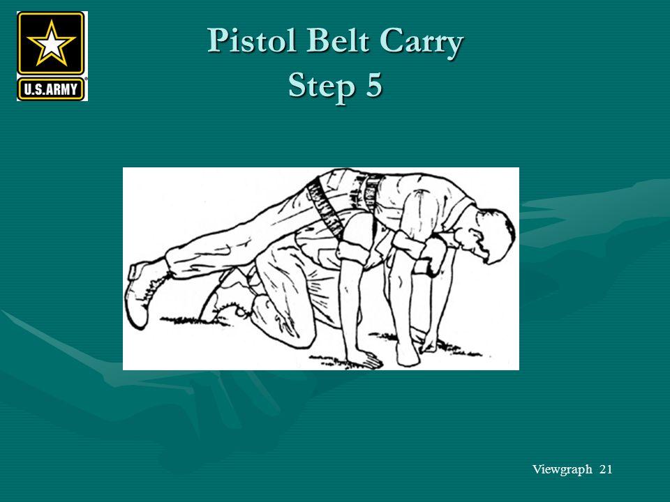 Viewgraph 21 Pistol Belt Carry Step 5