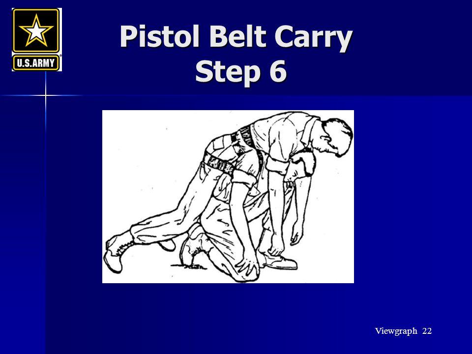 Viewgraph 22 Pistol Belt Carry Step 6 Pistol Belt Carry Step 6