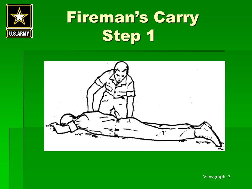 Viewgraph 3 Fireman's Carry Step 1 Fireman's Carry Step 1