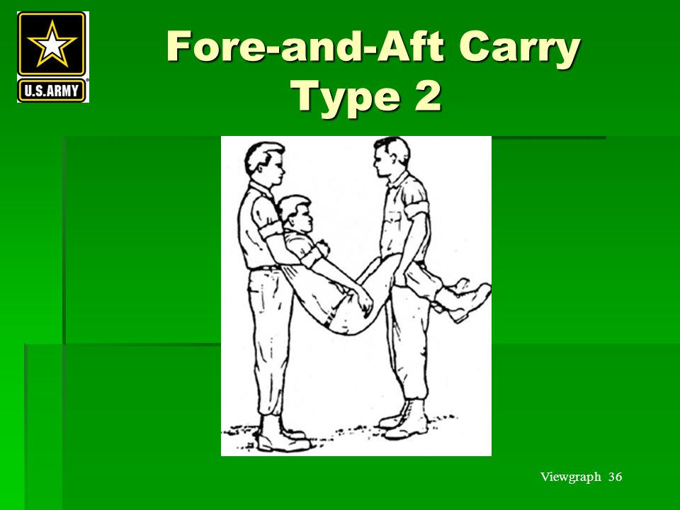 Viewgraph 36 Fore-and-Aft Carry Type 2 Fore-and-Aft Carry Type 2