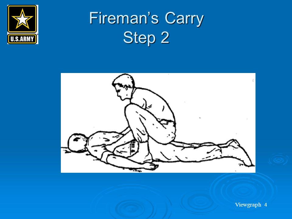 Viewgraph 4 Fireman's Carry Step 2