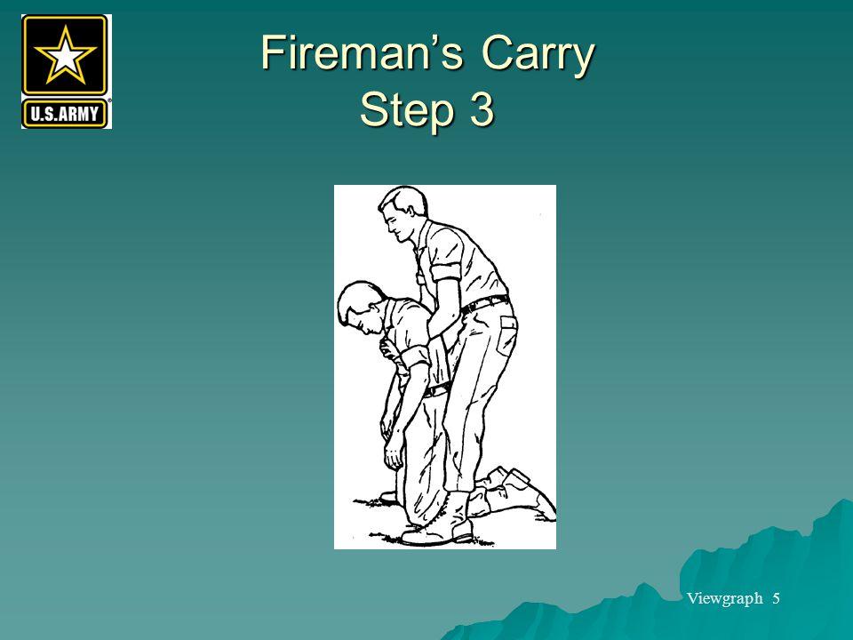 Viewgraph 5 Fireman's Carry Step 3