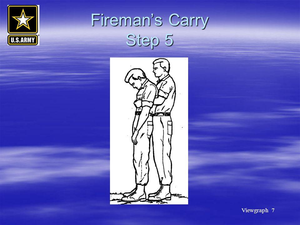 Viewgraph 7 Fireman's Carry Step 5