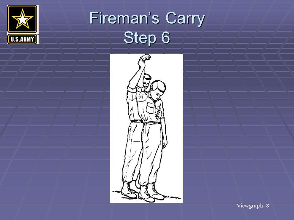 Viewgraph 8 Fireman's Carry Step 6