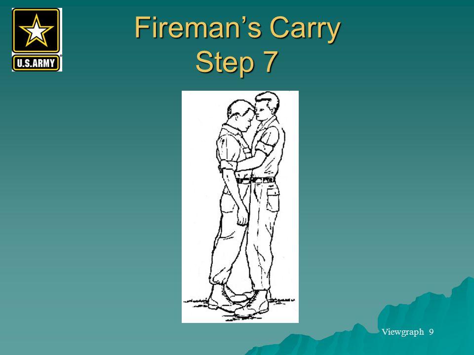 Viewgraph 9 Fireman's Carry Step 7