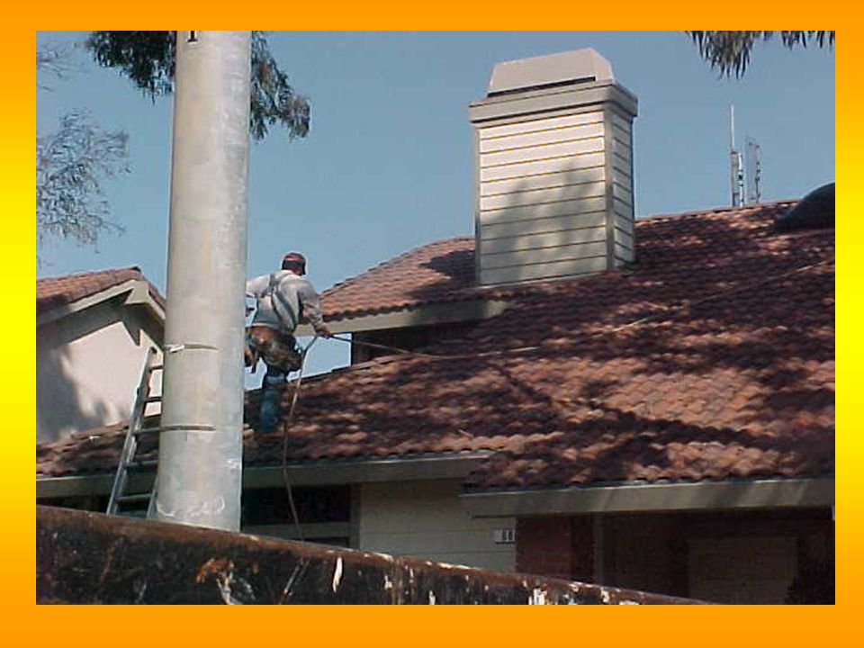  Low slope roofs (< 4:12) safety monitor or slide guards  >4:12 and < 8:12 (not tile or metal roof) slide guards  tile or metal roof < 8:12 safety monitor or slide guards STD 03-00-001- Alternative procedures for residential roofing Fall Protection for Roofing SUBPART M