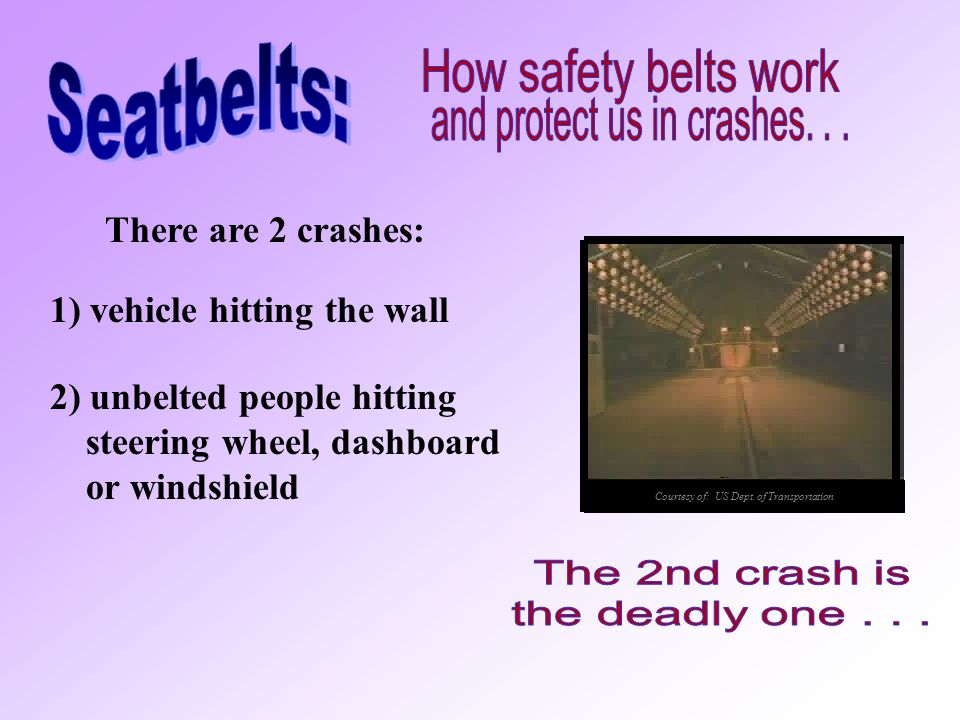 The newer safety belts feel so comfortable you may not think they work, but they do. Many belt systems are activated only when the vehicle stops sudde