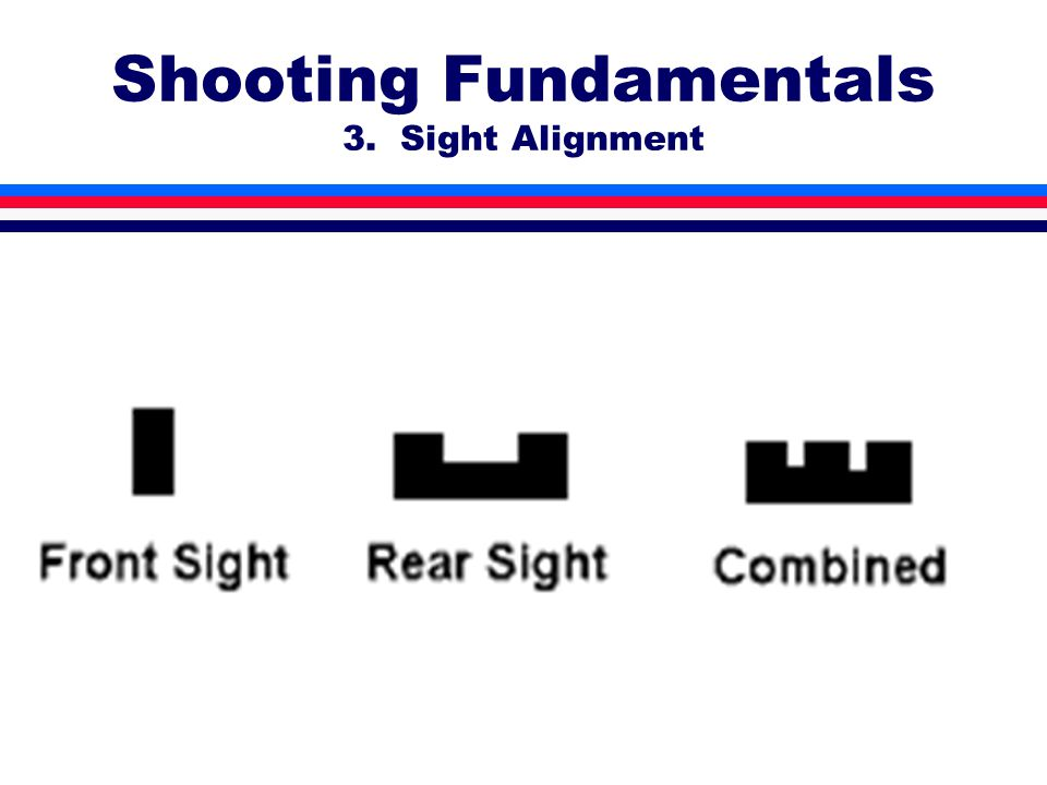 Shooting Fundamentals 3. Sight Alignment