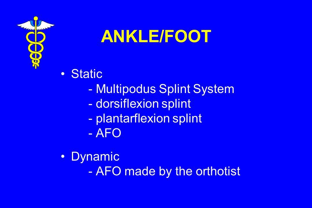 ANKLE/FOOT Static - Multipodus Splint System - dorsiflexion splint - plantarflexion splint - AFO Dynamic - AFO made by the orthotist