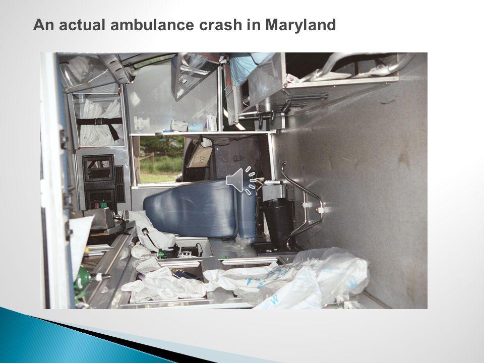 An actual ambulance crash in Maryland