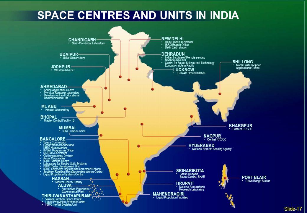 BANGALORE Space Commission Department of Space and ISRO Headquarters INSAT Programme Office NNRMS Secretariat Civil engineering Division Antrix Corpor