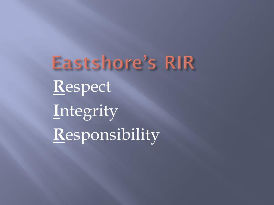 R espect I ntegrity R esponsibility