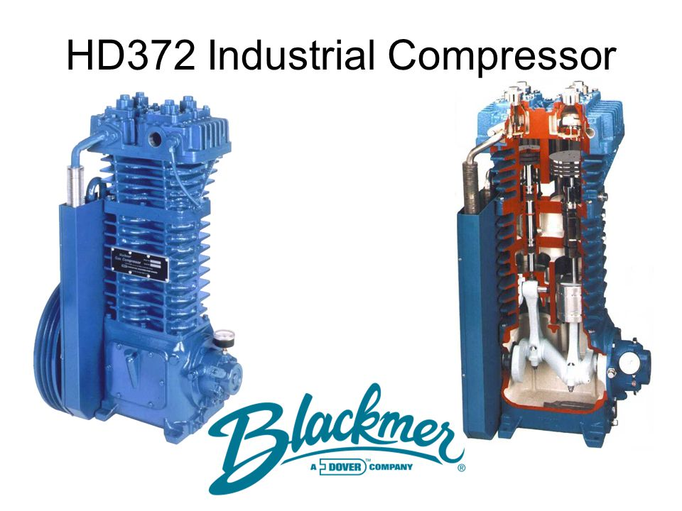 1 09/97 CB-259 Hilites Only HD372 Compressor This presentation is a simplified description of the disassembly of a Blackmer HD372A. The current produc