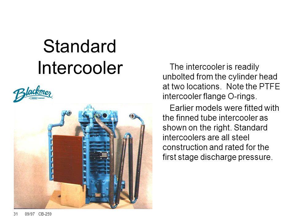 30 09/97 CB-259 Standard Intercooler Radiator or Finned tube types All steel construction