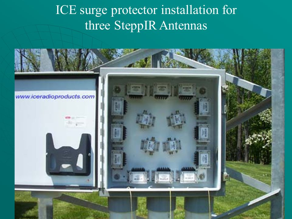 ICE surge protector installation for three SteppIR Antennas