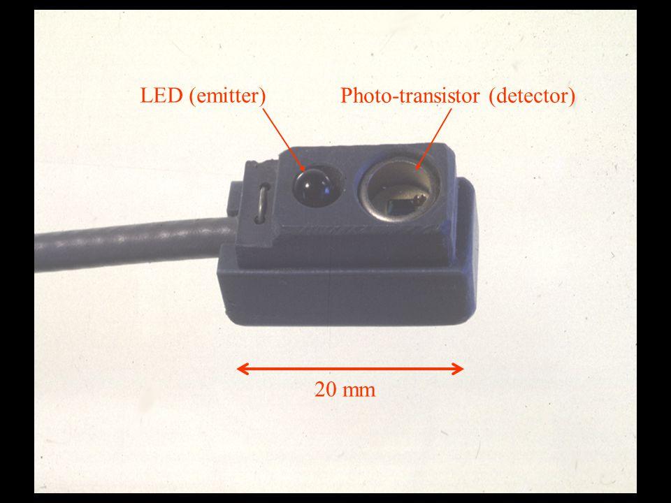 20 mm LED (emitter) Photo-transistor (detector)
