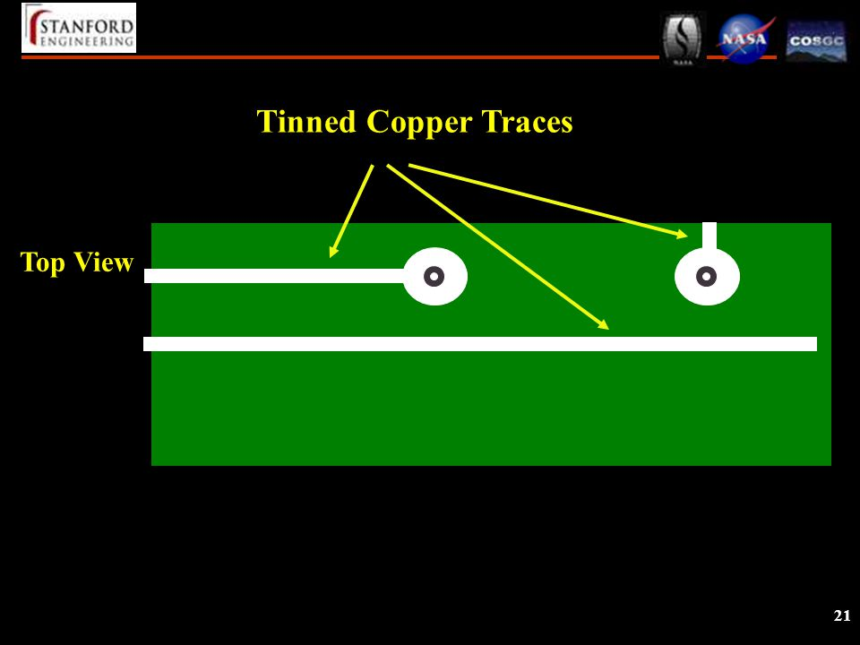 21 Top View Tinned Copper Traces