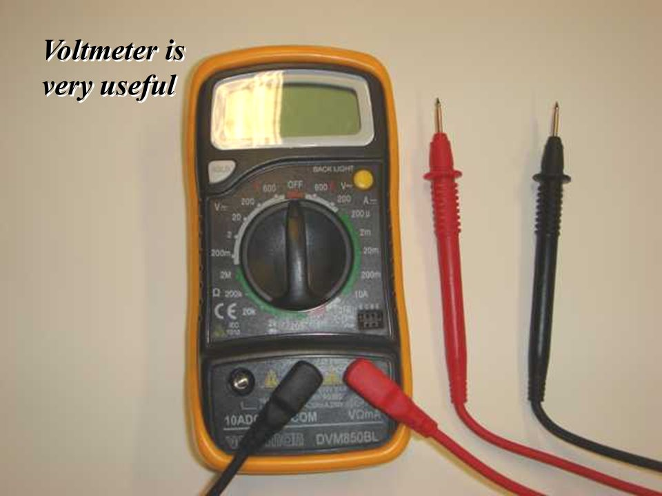 39 - Voltmeter is very useful