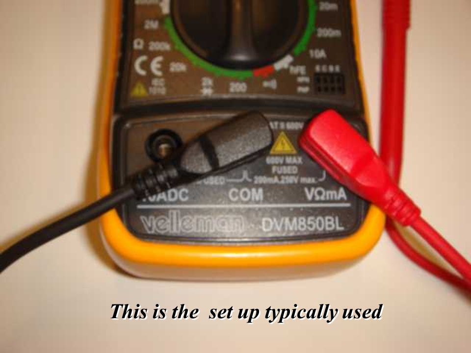 40 Voltmeter 101: - This is the set up typically used