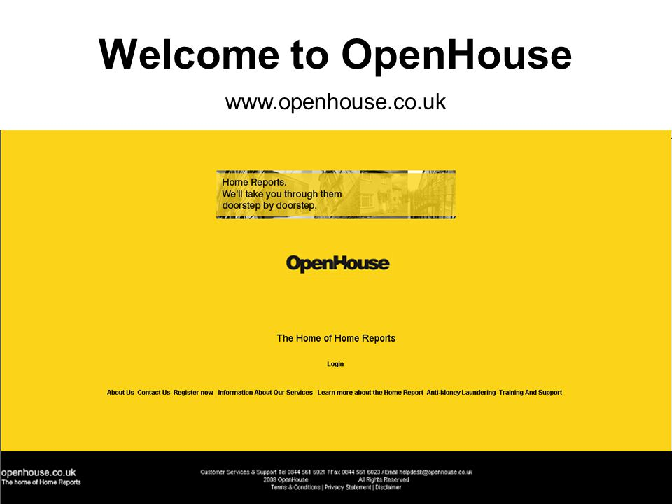 Welcome to OpenHouse www.openhouse.co.uk